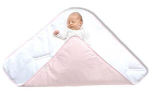 How to swaddle2 - Pink straight