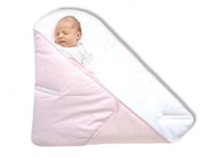 How to swaddle3 - Pink straight